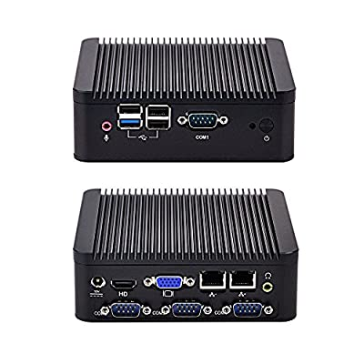 2015 NEW Intel Celeron J1800 Q180P 2G ram 32G SSD aluminum fanless dual core dual nic 4 serial ports living room HTPC DC 12V Mini PC