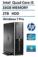 2016 Newest HP 6300 Pro Small Form Factor Business Desktop Computer, Intel Core i5 Quad Core Processor up to 3.6GHz, 16GB DDR3 RAM, 2TB HDD, DVDRW, Windows 7 Professional (Certified Refurbished)