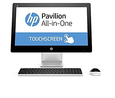 2017 HP Pavilion 23 Inch Touchscreen FHD All-in-One Premium Flagship Desktop (Intel Core i3-4170T 3.2GHz, 6GB RAM, 1TB HDD, WiFi, DVD, Windows 10 Home) (Certified Refurbished)
