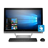 "2017 HP Pavilion 27 TOUCH Desktop 500GB SSD WIN 10 PRO (Intel Core i7-7700K processor 4.20GHz TURBO to 4.50GHz, 16 GB RAM, 500 GB SSD, 27"" FullHD IPS TOUCHSCREEN, Win 10 PRO) PC Computer All-in-One"