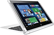 "2017 HP Pavilion x2 Detachable Premium 2-in-1 Laptop Tablet,10.1"" HD IPS Touchscreen Intel Quad-Core Atom x5-Z8350, 32GB eMMC SSD, 2GB RAM, 802.11ac, Wifi, Bluetooth, Windows 10-Silver"