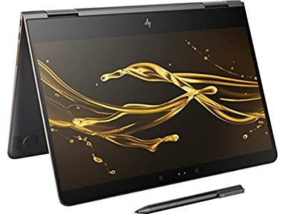 "2017 Model HP Spectre x360 - 13t Stylus(16GB RAM, 512GB SSD, 7th Gen. Intel i7-7500U, Windows Ink) 2-in-1 Convertible 13.3"" Tablet Kaby Lake Touchscreen Bang & Olufsen Thunderbolt Gyroscope - Dark Ash"