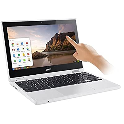 "2017 Newest Acer Premium R11 11.6"" Convertible 2-in-1 HD IPS Touchscreen Chromebook - Intel Quad-Core Celeron N3160 1.6GHz, 4GB RAM, 32GB SSD, Bluetooth, HD Webcam, HDMI, USB 3.0, Chrome OS - White"