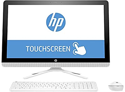 "2017 Newest HP 23.8"" Full HP IPS Touchscreen All-in-One Desktop Computer, Intel Dual-Core i3-6100U, 8GB RAM, 1TB HDD 7200rpm, DVDRW, WLAN, Bluetooth, Webcam, HDMI, Windows 10 (Certified Refurbished)"