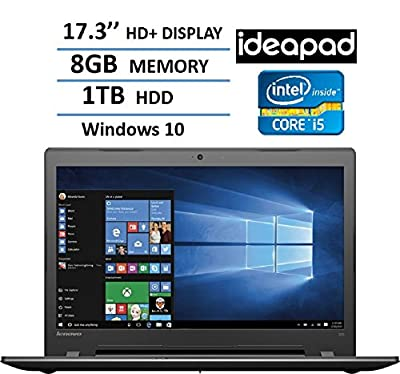"2017 Newest Lenovo 17.3"" HD+ High Performance Premium Laptop, Intel Core i5-6200U Processor, 8GB RAM, 1TB HDD, Intel HD Graphics 520, DVD, HDMI, VGA, Bluetooth, 802.11ac, Webcam, Windows 10-Black"