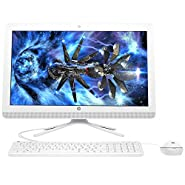 "2018 Flagship HP 20 All-in-One 19.5"" Diagonal WLED HD+ Desktop, Intel Celeron J3060 up to 2.48GHz 8GB RAM 500GB HDD Bluetooth 4.0 802.11bgn HP Webcam DVD±RW Win 10 White-(Certified Refurbished)"