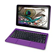 "2018 High Performance RCA Galileo Pro 2-in-1 11.5"" Touchscreen Detachable Tablet PC, Intel Quad-Core Processor, 1GB RAM, 32GB SSD, WIFI, Bluetooth, Webcam, Android 6.0 (Marshmallow), Purple"