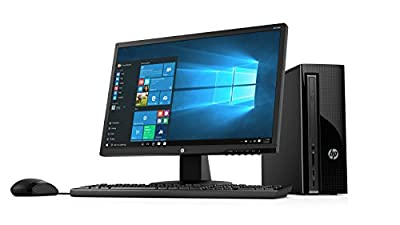2018 HP 270 21.5-Inch Full HD Display Slim Desktop PC, Intel Pentium G4560T Dual-Core Processor 4GB DDR4 RAM 1TB HDD DVD Writer WiFi HDMI VGA Keyboard + Mouse Windows 10