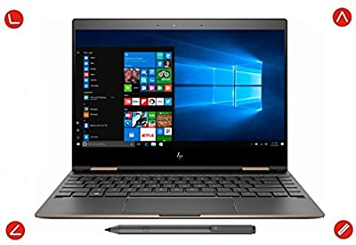 "2018 Latest HP Spectre x360 13t Touchscreen Yoga Style 2-In-1 Windows 10 Pro Laptop & Tablet - Intel i7-8550U Quad Core, 13.3"" IPS, PCIe NVMe SSD, 16GB DDR4 RAM, Thunderbolt 3, Dark Ash"