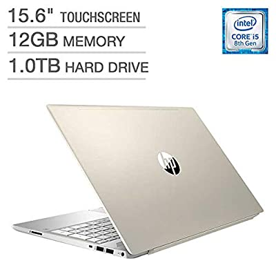 "2018 Newest HP Pavilion Business Flagship Laptop PC 15.6"" HD Touchscreen Display 8th Gen Intel i5-8250U Quad-Core Processor 12GB DDR4 RAM 1TB HDD Backlit-Keyboard Bluetooth B&O Audio Windows 10-Gold"