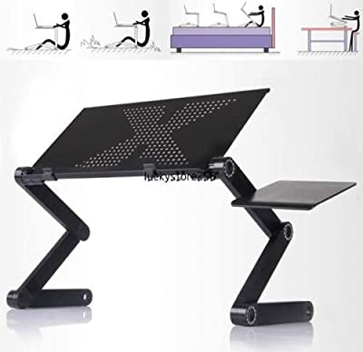 360°Adjustable foldable laptop Notebook Desk Table W/ Fan Hole Stand Bed Tray:new by WW shop