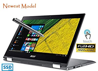 """Acer Spin 5 SP513-52N Touch 2-1 Laptop 8th Gen. Intel Core i5 up to 3.4GHz 8GB 256GB SSD 13.3"""" Full HD HDMI Cam (Certified Refurbished)"""