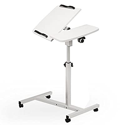 Adjustable Computer Desk, Paymenow Height Rolling Laptop Carts Portable Table Sofa Breakfast Tray Side Table Standing Bed Desk