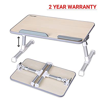 Adjustable Laptop Table, Laptop Stand For Bed and Sofa, Portable Standing Desk, Foldable Breakfast Tray, Notebook Stand Reading Studying Holder for Bed, Office Work, Couch Floor Kids, Snacking