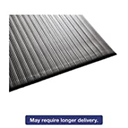 Air Step Antifatigue Mat, Polypropylene, 36 x 144, Black, Sold as 1 Each