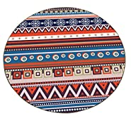 AiseBeau Flannel Geometric Round Kitchen Rug Comfort Round Kitchen Floor Mat Non-Slip Round Floor Mat Soft Entrance Mat Door Mat Round Floor Rug Area Rug