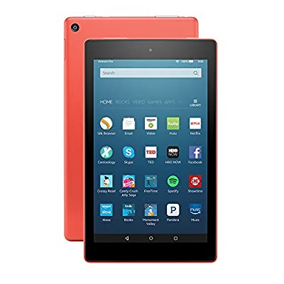"All-New Fire HD 8 Tablet, 8"" HD Display, Wi-Fi, 16 GB - Includes Special Offers, Tangerine"
