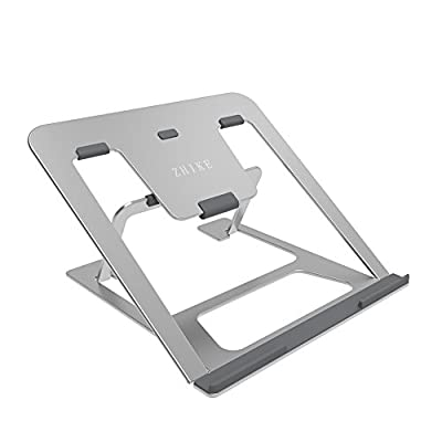 Aluminum Laptop Stand Folding 6 Angles Adjustable Ventilated Computer Stand for 12-14inch Macbook Air Pro/Notebook/ iPad / PC