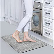 "Anti Fatigue Mat(20""W x32""Lx 3/4""),Comfort Kitchen Padded Floor Mats Cushioned For Kitchen,Laundry and Office,Non-Slip,Waterproof,Non-Toxic,Eco-friendly Standing Desk Mat(Gray)"