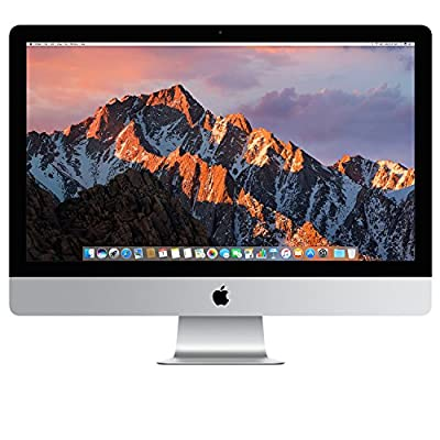 "Apple 27"" iMac with Retina 5K Display (Mid 2017) - 3.4GHz Intel Quad-Core i5 Processor, 16GB DDR4 Memory, 512GB Solid State Drive, 4GB AMD Radeon Pro 570, macOS, Silver"