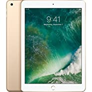 Apple iPad with WiFi, 32GB, Gold (2017 Model) (Certified Refurbished)