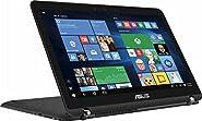 "Asus Newest 2-in-1 Flagship Premium 15.6"" FHD Touchscreen Gaming Backlit Keyboard Laptop PC| Intel Core i7-7500U| NVIDIA GeForce 940MX graphics| 12GB RAM| 2TB HDD| Thunderbolt Port| Windows 10 (Black)"
