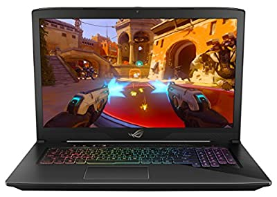 "ASUS ROG STRIX GL703VD 17"" Gaming Laptop, GTX 1050 4GB, Intel Core i7 2.8 GHz, 16GB DDR4, 256GB SSD + 1TB HDD, RGB Keyboard"