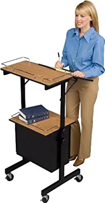 Balt Diversity Stand AV Cart or Mobile Stand Up Workstation or Mobile Lectern, You Decide