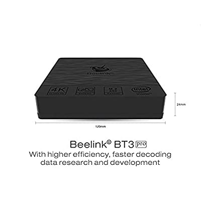 Beelink BT3 Pro Mini PC 4GB / 32GB Intel Atom x5-Z8350 Processor 1000Mbps LAN WiFi 2.4/5.8G BT 4.0 Dual Screen Display with DHMI and VGA Ports MINI PC Windows 10