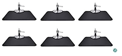Berkeley Rectangle Salon Mat 3' x 4' (Set of 6) BLACK Anti-fatigue Mat for Salon or Barber Shop