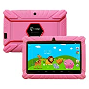 """Contixo Kids7"""" Quad Core Android 4.4 Kitkat Multi-Touch Screen Tablet PC, HD Display 1GB RAM, 8GB Nand Flash, Dual Camera, WiFi, Kids Apps Pre-loaded, Google Play Pre-installed, 3D Game Supported"""
