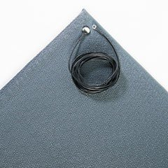 Crown ZC0023GY - Antistatic Comfort-King Mat, Sponge, 24 x 36-Inch Rectangle, Gray