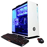 CYBERPOWERPC Gamer Xtreme GXi10200A Desktop Gaming PC (Intel i7-7700 3.6GHz, NVIDIA GTX 1060 6GB, 16GB DDR4 RAM, 1TB 7200RPM HDD, 128GB NVMe SSD, Win 10 Home), White