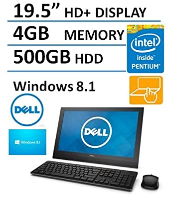 Dell 19.5'' HD+ Display Touchscreen All In One Desktop Computer (Intel Pentium up to 2.58GHz Processor), 4GB DDR3 RAM, 500GB HDD, HDMI, RJ45, WIFI, Bluetooth, Windows 8.1 (Certified Refurbished)
