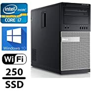 Dell Gaming Optiplex 990 Desktop Computer, Intel Core i7 3.4 upto 3.8GHz 2600 CPU, 16GB DDR3 Memory,New 240GB SSD + 1TB HDD, WiFi, Windows 10 Pro, Nvidia GT730 4GB (Certified Refurbished)