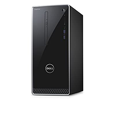 Dell Inspiron Premium Business Flagship Desktop PC (2018 New), Intel Core i5-7400 Processor up to 3.50 GHz, 8GB DDR4 RAM, 1TB 7200RPM HDD, DVD-RW, HDMI, VGA, Bluetooth, Windows 10-Black