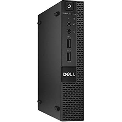 Dell Optiplex 9020 Micro Desktop Computer Tiny PC (Intel Core i3-4160T, 8GB Ram, 256GB Solid State SSD, WIFI, Bluetooth, HDMI) Win 10 Pro With CD (Certified Refurbished)