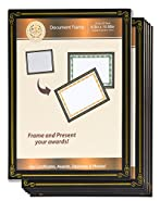 Diploma Frame - 6-Pack 8.5 x 11 Certificate Frame, Document Paper Frame, University and College Diploma Display, Black, Chipboard and Plastic Cover