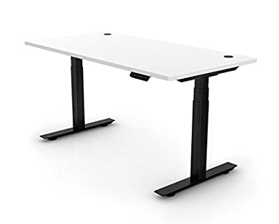 "Ergopose ""ePo"" Standing Ergonomic Electric Height-Adjustable DIY Desk Frame Workstation in Black (Top not included)"