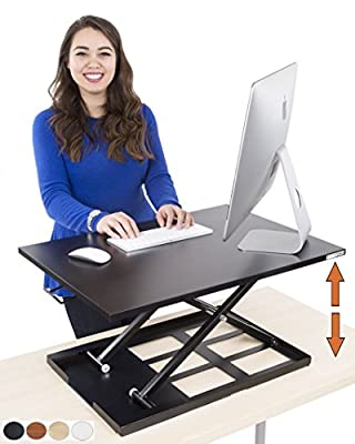 Executive Office Solutions Portable Adjustable Aluminum Laptop Desk/Stand/Table Vented w/CPU Fans Mouse Pa