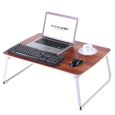 [Extra Large] Bed Table for Laptop, Superjare Drawing/Coloring/Sketching/Writing Table or PC Game Purposes, Portable Outdoor Camping Table - American Cherry
