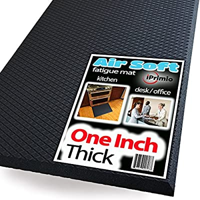 Extra Thick ONE INCH, Standing Anti Fatigue Mat - Soft Standing Mat for Office, Ergonomic, Counter, Standing Desk Floor Mat, Fatigue Kitchen Mat, Fatigue Floor Mat,