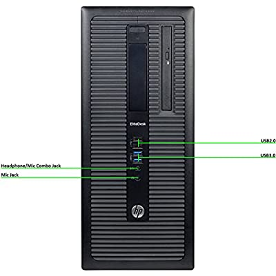 Fastest HP EliteDesk 800 G1 Business Tower Computer PC (Intel Ci5-4570 upto 3.9GHz, 16GB Ram, 1TB HDD + 120GB Brand New SSD, Wireless WIFI, Display Port, USB 3.0) Win 10 Pro (Certified Refurbished)