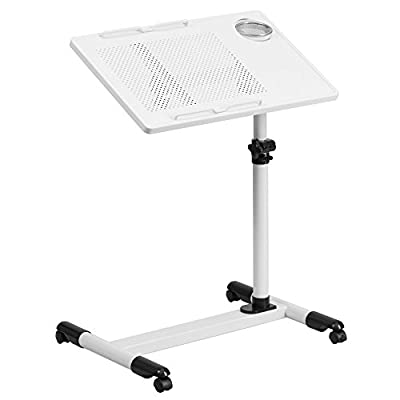 Flash Furniture Adjustable Height Steel Mobile Computer Desk