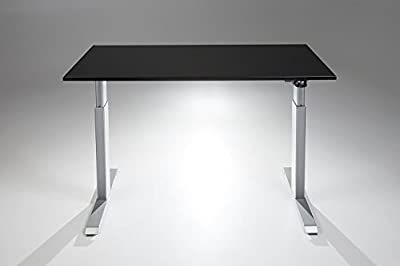 FlexTable Electric Standing Desk w/ Silver Frame