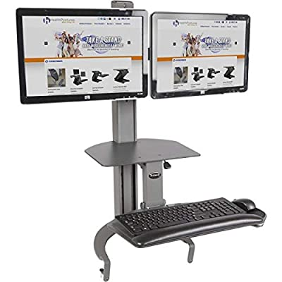 HealthPostures TaskMate Go Dual 6350 Adjustable Assisted Lift Standing Desk