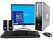 """HP Desktop Core 2 Duo 2.6GHz - New 4GB Memory - 500GB HDD - Windows 10 Home Edition - 19"""" Generic Monitor, NEW Keyboard, Mouse, Speakers, WiFi Sold (Certified Refurbished)"""