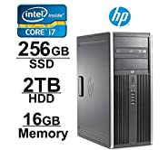 HP Elite 8200 Workstation (Core i7 3.4GHZ, 2TB HDD, 256GB SSD, 16GB RAM, WIFI, 1GB Video Card with HDMI, DVD-ROM and Windows 7 Pro 64-Bit)