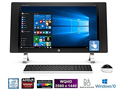 """HP ENVY 27-p011, 27"""" IPS Quad HD 2560 x1440 Touchscreen, Core i7, All-in-One PC (Certified Refurbished)"""