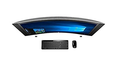 "HP ENVY 34 CURVED All-In-One PERFORMANCE Desktop (Intel Quad Core Processor, 34"" WQHD LED (3440x1440) Display, NVIDIA 960A, RealSense 3D Camera, Win 10, 128GB ULTRA SSD + 1TB Hard Drive, DDR4 RAM)"